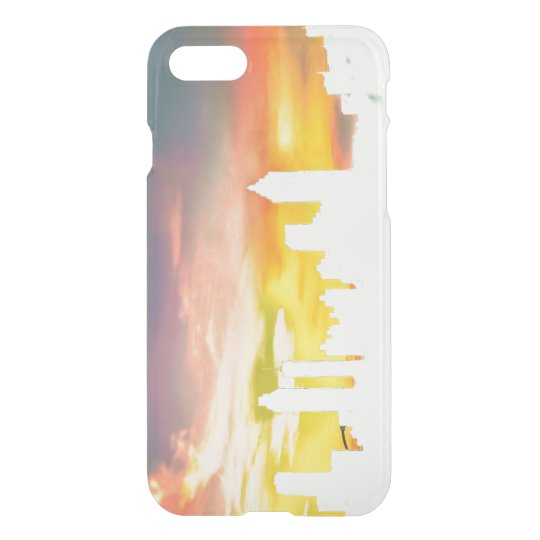 Atlanta Skyline & Sunset View Clear Phone Case