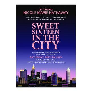 Atlanta Skyline Sweet Sixteen Movie Party Card