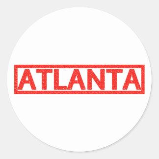 Atlanta Stamp Round Sticker