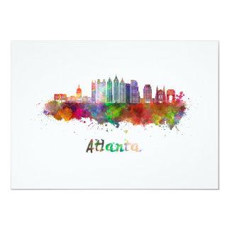 Atlanta V2 skyline in watercolor Card
