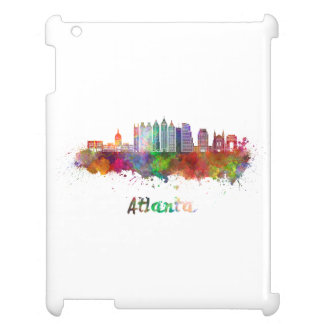 Atlanta V2 skyline in watercolor Cover For The iPad