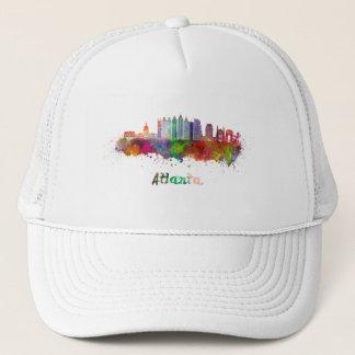 Atlanta V2 skyline in watercolor Trucker Hat