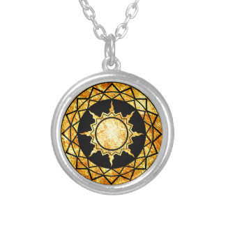 Atlantean Gold on Black Silver Plated Necklace
