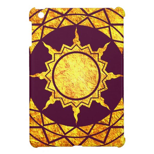 Atlantean Gold on Purple iPad Mini Cover