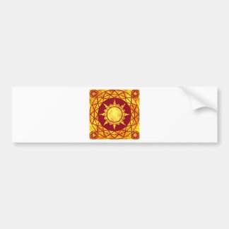 Atlantean Gold on Red Bumper Sticker