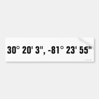 Atlantic Beach, FL Latitude/Longitude Sticker Bumper Sticker