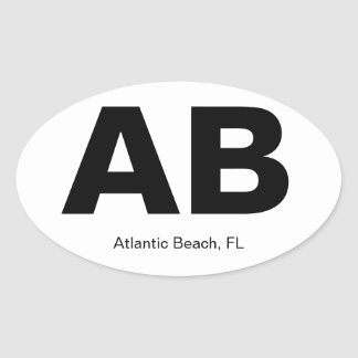 Atlantic Beach, FL Oval Sticker