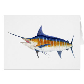 Atlantic Blue Marlin Card