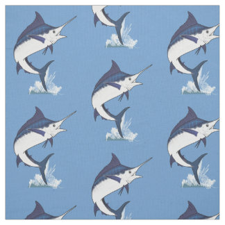 Atlantic Blue Marlin Fabric