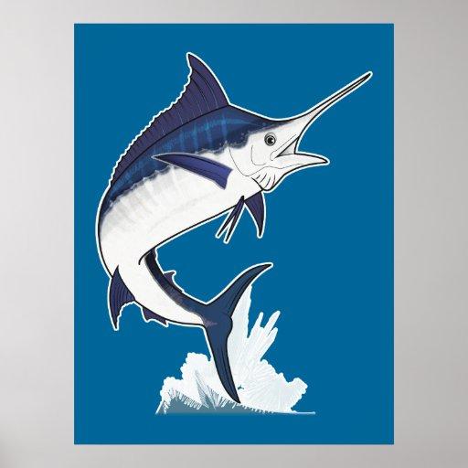 Atlantic Blue Marlin Posters