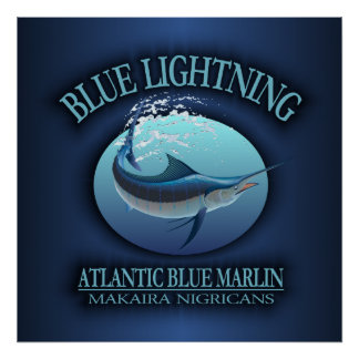 Atlantic Blue Marlin Poster