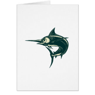 Atlantic Blue Marlin Scraperboard Card