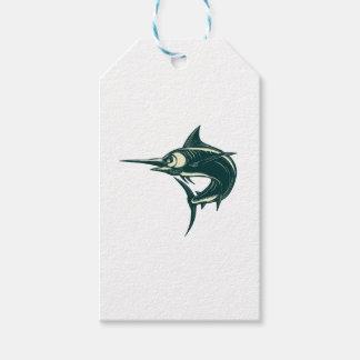 Atlantic Blue Marlin Scraperboard Gift Tags