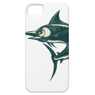 Atlantic Blue Marlin Scraperboard iPhone 5 Case