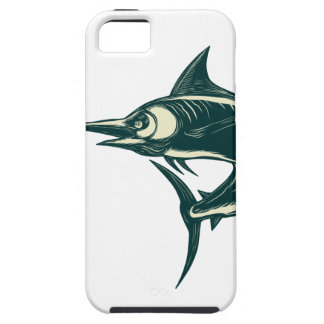 Atlantic Blue Marlin Scraperboard iPhone 5 Cover