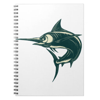 Atlantic Blue Marlin Scraperboard Notebook