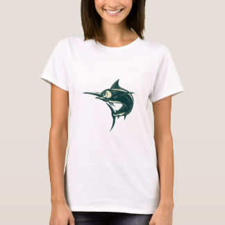 Atlantic Blue Marlin Scraperboard T-Shirt