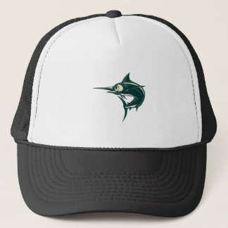 Atlantic Blue Marlin Scraperboard Trucker Hat