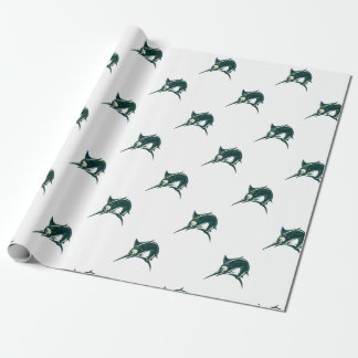 Atlantic Blue Marlin Scraperboard Wrapping Paper