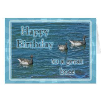 Atlantic Brant Geese Boss Birthday Greeting Card
