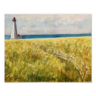 ATLANTIC CANADA WATERCOLOR POSTER