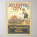 Atlantic City--Affiche vintage d'image des années  Poster