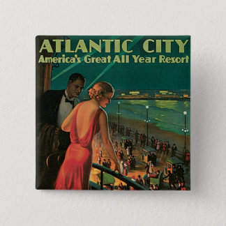 Atlantic City ~ All Year Resort 2 Inch Square Button