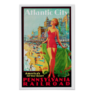 Atlantic City ~ America's All Year Playground Poster