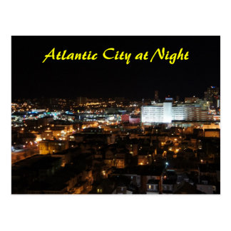 Atlantic City at Night Postcard