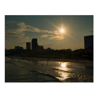 Atlantic City in the evening Postcard