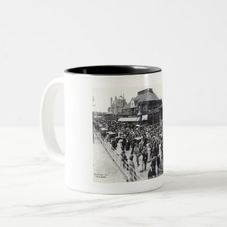 Atlantic City, New Jersey, Easter Sunday, Vintage Two-Tone Coffee Mug