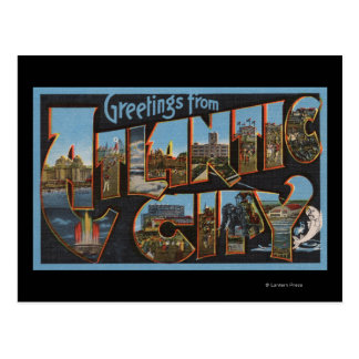 Atlantic City, New Jersey - Large Letter Scenes 2 Postcard