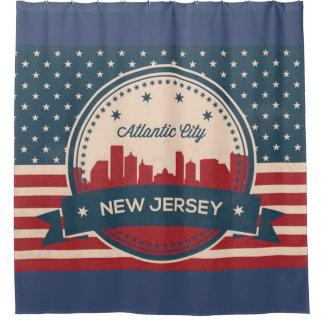 Atlantic City New Jersey Retro Skyline