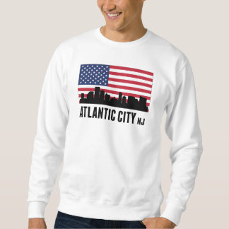 Atlantic City NJ American Flag Sweatshirt