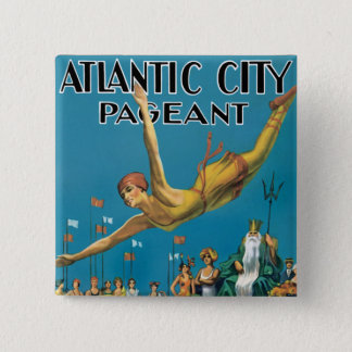 Atlantic City Pageant 2 Inch Square Button