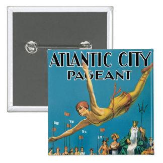 Atlantic City Pageant 2 Inch Square Button