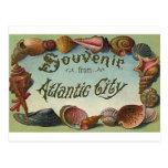 Atlantic city souvenir postcard
