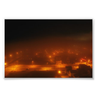 "Atlantic City Under Fog 4"" x 6"" Print Photo Art"