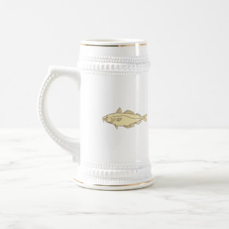 Atlantic Cod Fish Drawing Beer Stein