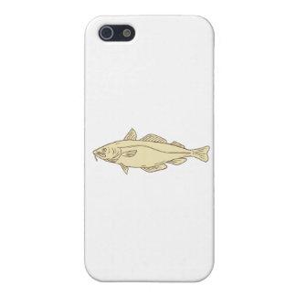 Atlantic Cod Fish Drawing iPhone 5 Cover