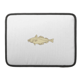 Atlantic Cod Fish Drawing Sleeves For MacBooks