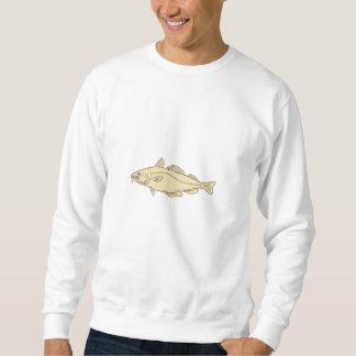 Atlantic Cod Fish Drawing Sweatshirt