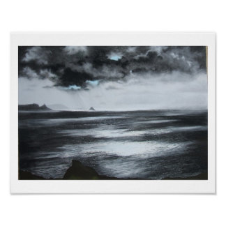 """Atlantic Light""  Black and white print"