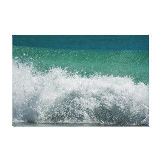 Atlantic ocean Breaking curled wave Canvas Print
