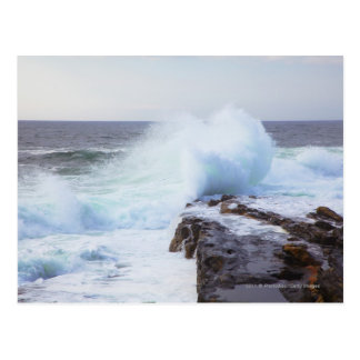 Atlantic Ocean Wave Crashing into Maine's Coast Postcard
