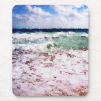 Atlantic Ocean Waves Mouse Pad