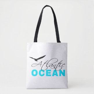 Atlantic Ocean White Customizable Tote Bag