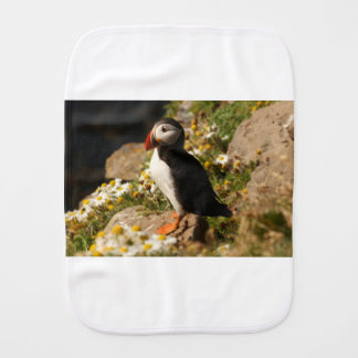 Atlantic Puffin Burp Cloth