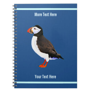 Atlantic Puffin Spiral Notebook