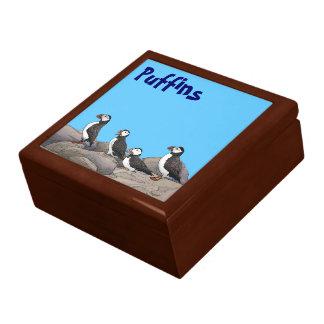 Atlantic Puffins Trinket Box